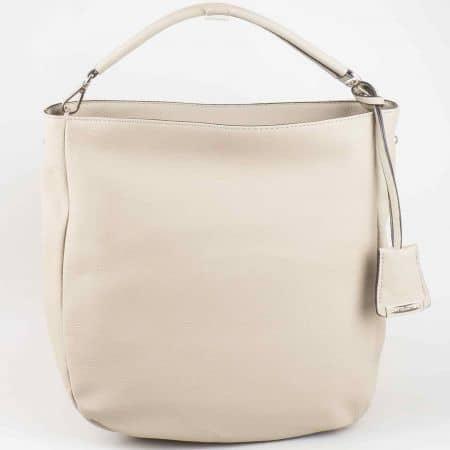 Изчистена сива дамска чанта David Jones cm3015sv