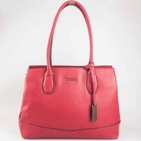 Модерна червена дамска чанта David Jones  cm3023chv