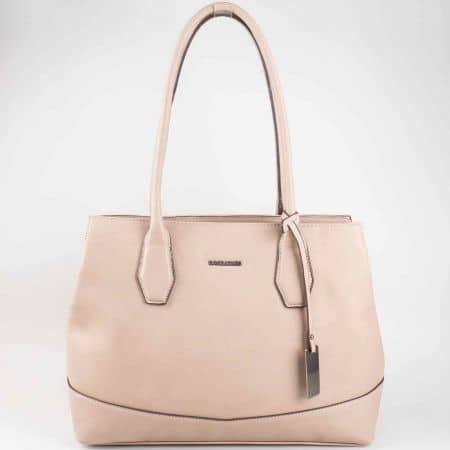 Изчистена дамска чанта David Jones в кафяв цвят cm3023k