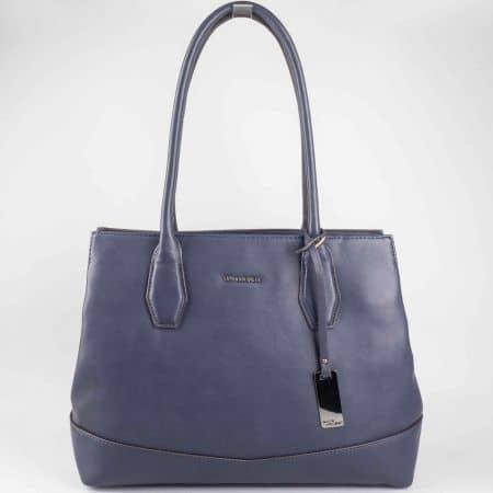 Красива синя дамска чанта David Jones с изчистен дизайн  cm3023s