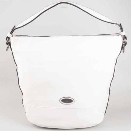 Бяла дамска чанта David Jones тип торба cm3047b