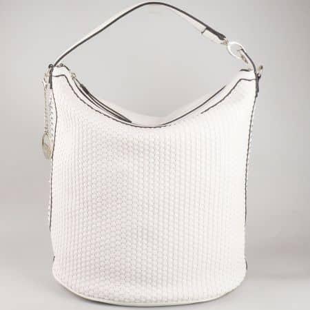 Бяла дамска чанта тип торба David Jones с атрактивна визия cm3051b