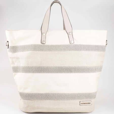 Бежова ежедневна дамска чанта David Jones  cm3052bj