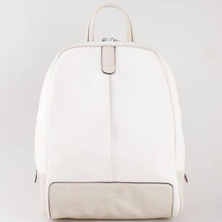 Дамска свежа раница за всеки ден на френския производител David Jones в бял цвят cm3067b