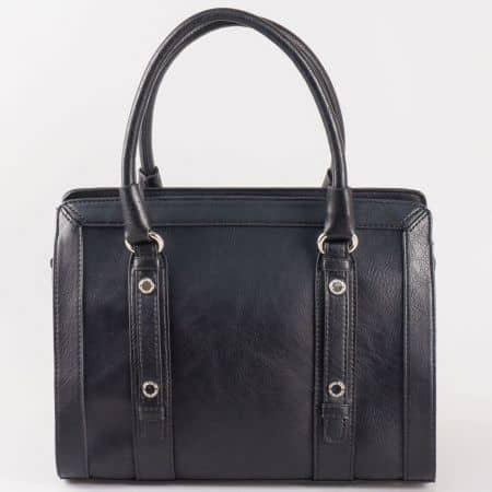 Дамска чанта за всеки ден със стилна визия на френската марка David Jones в черен цвят cm3091ch