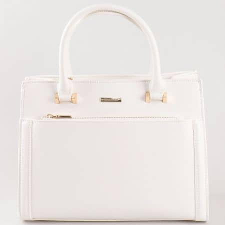 Дамска атрактивна чанта за всеки ден на David Jones в бял цвят cm3097b