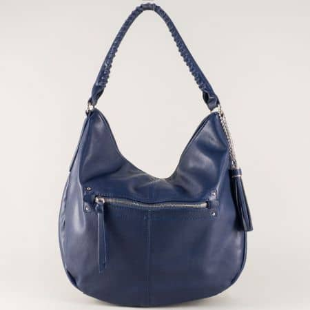 Синя дамска чанта David Jones с една преграда cm3270s
