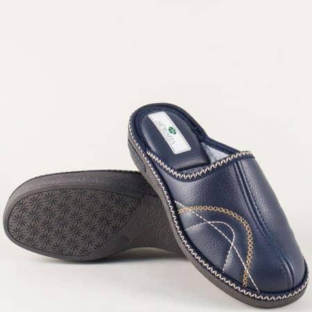 Български дамски домашни чехли в син цвят danayas