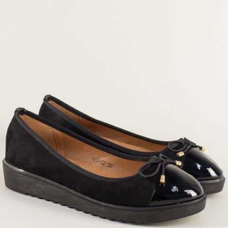 Ежедневни дамски обувки на равно ходило в черен цвят hbs02vch