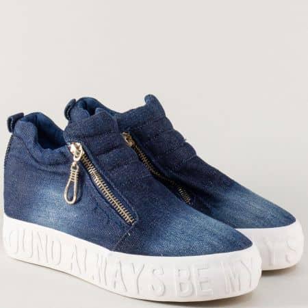 Дънкови дамски обувки на платформа jn55ds