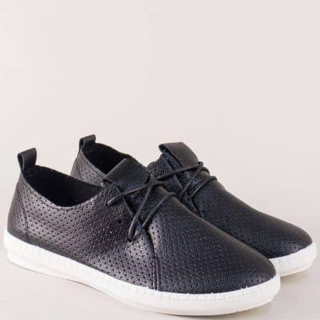 Спортни дамски обувки в черен цвят на равно ходило kzk6ch