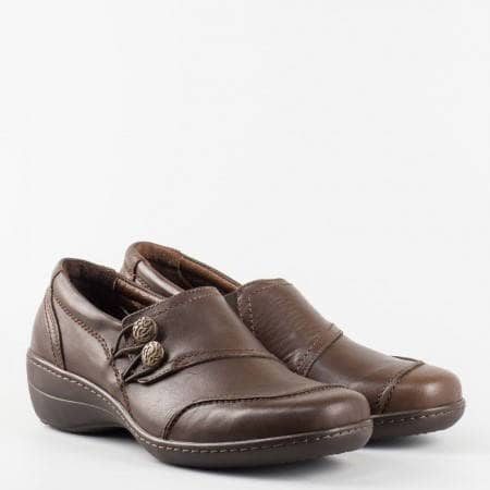 Дамска ежедневна анатомична обувка от естествена кожа с уникален дизайн l5388kk