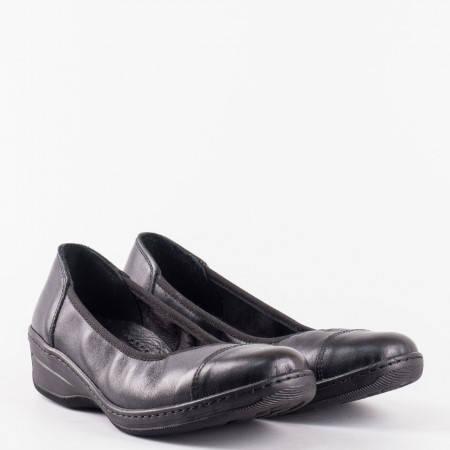 Ежедневна дамска обувка с ортопедична стелка в черен цвят l5722ch