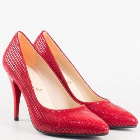 Дамски елегантни обувки на висок ток със стилна визия 1510chv