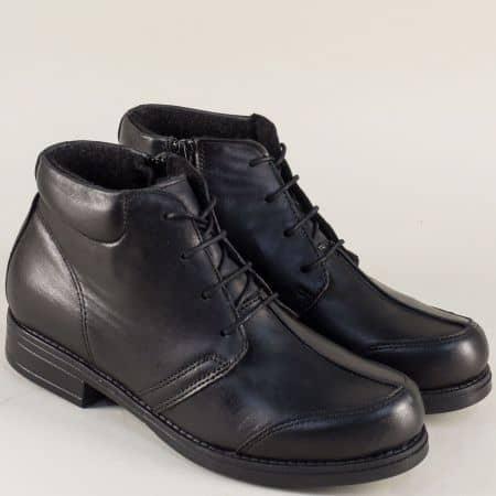 Дамски ежедневни боти изработени от качествена естествена кожа на водещ български производител в черен цвят m1121ch