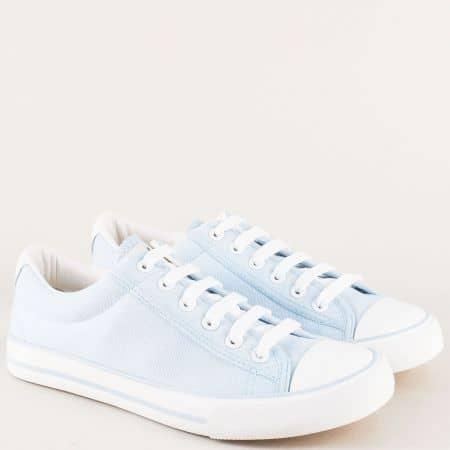 Дамски обувки на комфортно ходило в светло син цвят m6012ss