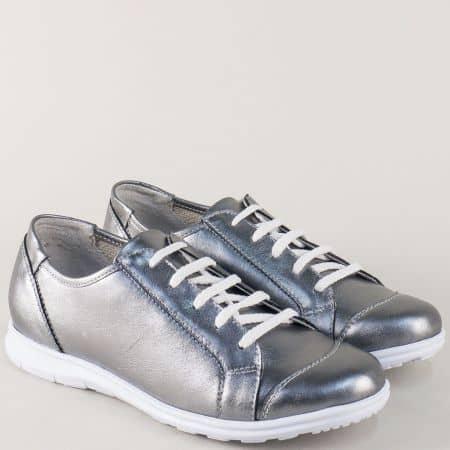 Спортни дамски обувки с връзки в цвят бронз m605brz