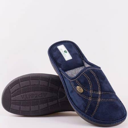 Мъжки домашни чехли- Spesita в тъмно син цвят manuels