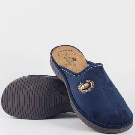 Сини мъжки домашни пантофи- Spesita на шито ходило mats