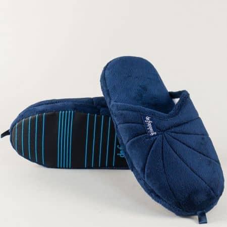 Дамско- юношески пантофи в синьо на комфортно ходило milanots