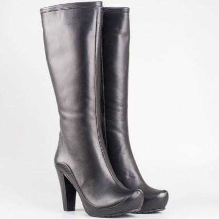 Елегантни дамски ботуши с иновативен и модерен дизайн в черен цвят mm202ch