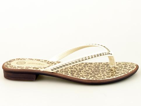 Дамски чехли за лятото с лента между пръстите на бразилски производител в кафяво 8045122426