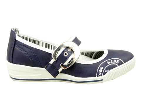 Удобни детски обувки с интересна емблема в син цвят 10533s
