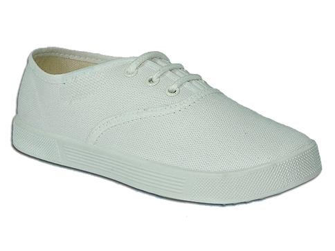 Детски обувки, тип кец с връзки в бял цвят u066b