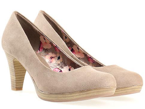 Немски дамски обувки от Marco Tozzi, изработени от висококачествен еко велур в сив цвят 222411vsv