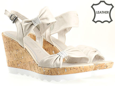 Дамски сандали на платформа Marco Tozzi, изработени от естествена кожа 228369mb
