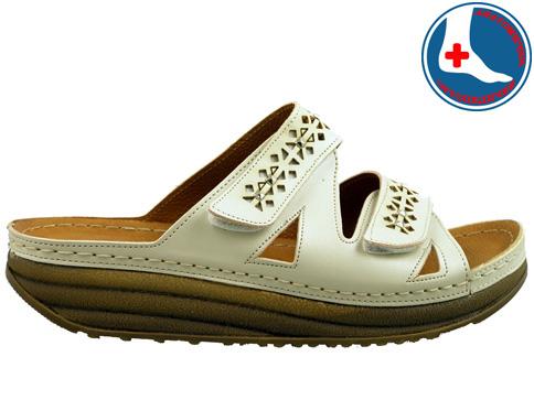 Анатомични дамски чехли на платформа с лепенки за регулиране на ширината 5043bj