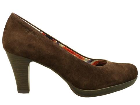 Немски обувки на ток естествена кожа Tamaris  с Antishokk система 122410vk