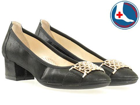 Анатомични дамски обувки от Naturelle, изпълнени от 100% естествена кожа в черен цвят z695705ch