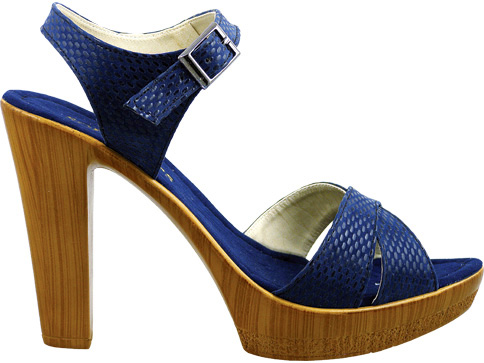 Стилни дамски сандали на висок ток с каишка около глезена 55161ts