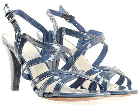 Дамски сандали на висок ток в син цвят 228383ls