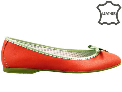 Комфортни равни дамски обувки, изработени от 100% естествена кожа, ишлеме за Италия m80chv