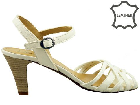 Елегантни дамски сандали от естествена кожа с италиански дизайн 1502b
