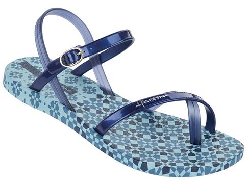 Модерни и комфортни дамски сандали Ipanema в син цвят  8147421119