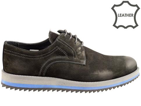 Ежедневни мъжки обувки с грайферно и удобно ходило, произведени в България  83150anch