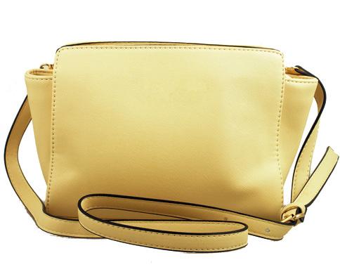 Изчистен модел дамска чанта за през рамо в бежов цвят 99085bj