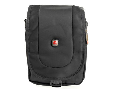 Мъжка спортна чанта, изработена от висококачествен текстил в черен цвят ch4035ch