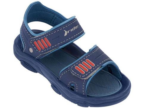 Детски бразилски сандали Rider в син цвят с две лепенки за момчета 8118822153