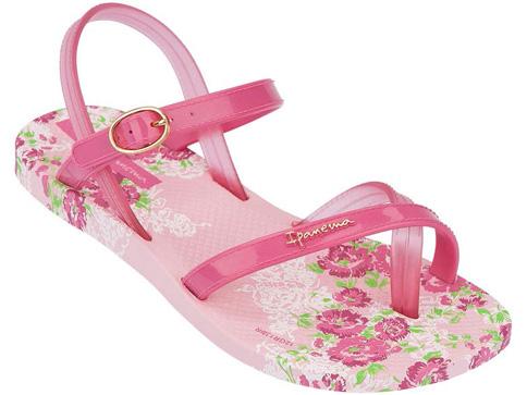 Иновативни и модерни бразилски детски сандали Ipanema в розов цвят 8120421721