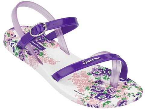 Иновативни и модерни бразилски детски сандали Ipanema в лилав цвят 8120421796