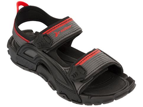 Удобни бразилски детски сандалии Rider с две лепенки в черен цвят 8084621272