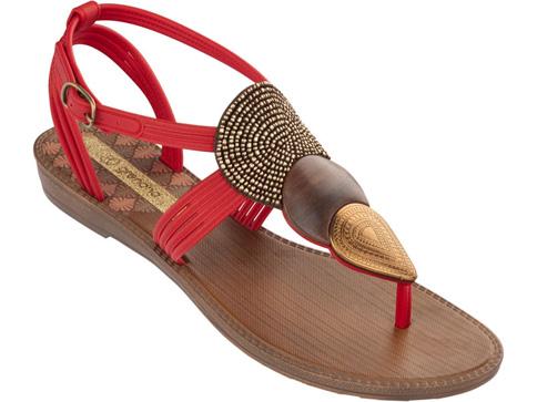 Комфортни детски сандали Ipanema в червен цвят 8124623061