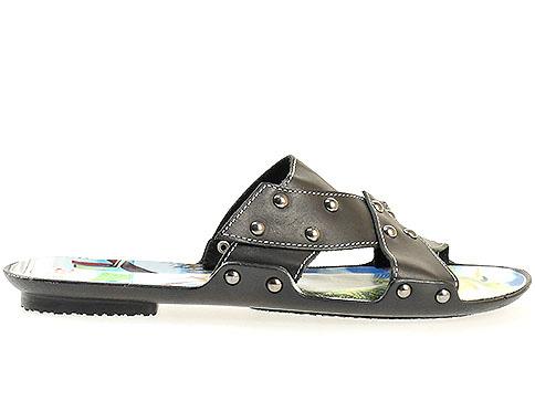 Мъжки чехли от висококачествена еко и естествена кожа в черен цвят 007ch
