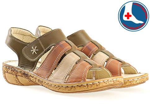 Меки и комфортни дамски сандали с анатомична стелка, изработени от естествена кожа в свежа цветова гама l855bjk