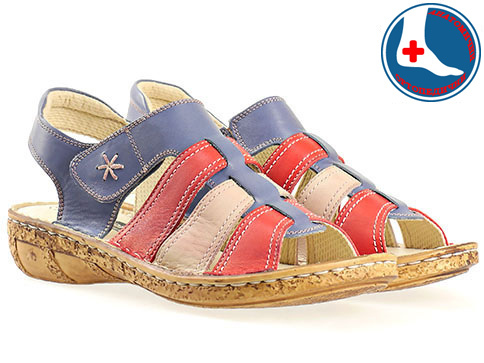 Меки и комфортни дамски сандали с анатомична стелка, изработени от естествена кожа в свежа цветова гама l855chvs