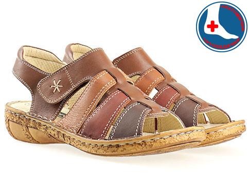 Меки и комфортни дамски сандали с анатомична стелка, изработени от естествена кожа в свежа кафява цветова гама l855k